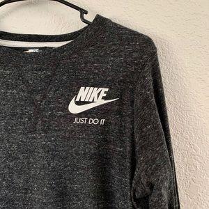 Nike heather gray long sleeve dress.